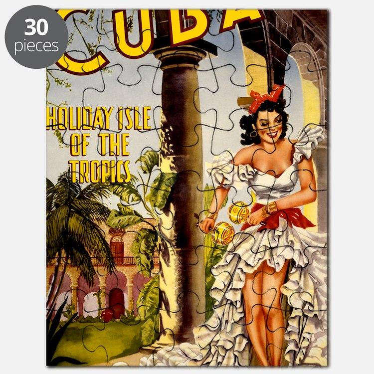 Vintage Cuba Tropics Travel Puzzle