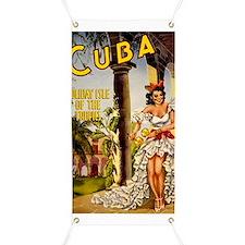Vintage Cuba Tropics Travel Banner