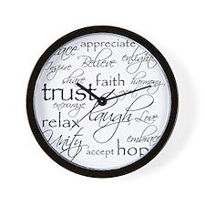 Positive Words - BL Wall Clock