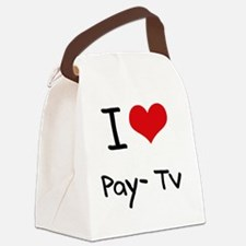I Love Pay-Tv Canvas Lunch Bag