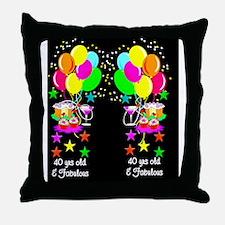 CELEBRATE 40TH Throw Pillow