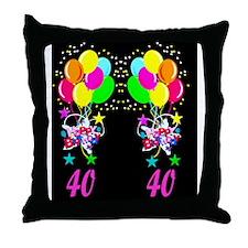 DYNAMIC 40 YR OLD Throw Pillow