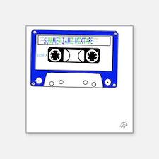 "Summer Jamz Mixtape Square Sticker 3"" x 3"""