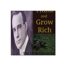 """Think and Grow Rich Square Sticker 3"""" x 3"""""""