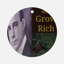 Think and Grow Rich Round Ornament