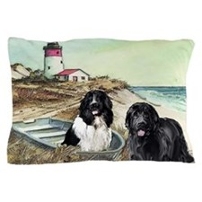 two newfs and boat Pillow Case