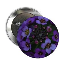 "Purple Flowers 2.25"" Button"