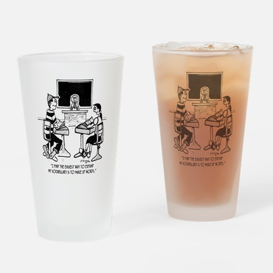 Make Up Words to Expand Vocabulary Drinking Glass