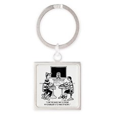 Make Up Words to Expand Vocabulary Square Keychain