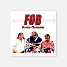 """FOB Sound Company color t Square Sticker 3"""" x 3"""""""