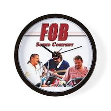 FOB Sound Company color t Wall Clock