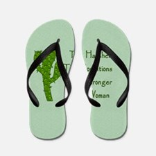 Harsh Conditions Strong Woman Flip Flops