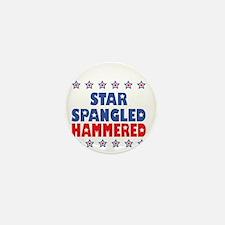 I'm Star Spangled Hammered (Dark) Mini Button