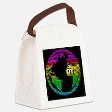 ONE WORLD OT LOVE Canvas Lunch Bag