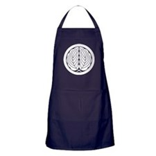 Embracing oak leaves in circle Apron (dark)