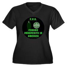 EPA  Ending  Women's Plus Size Dark V-Neck T-Shirt