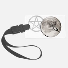 000CatMoon banner Luggage Tag