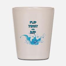 Flip, Twist and Rip Shot Glass