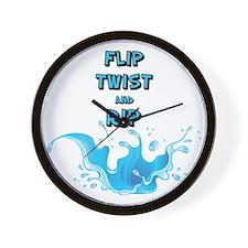 Flip, Twist and Rip Wall Clock