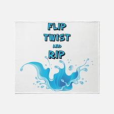 Flip, Twist and Rip Throw Blanket