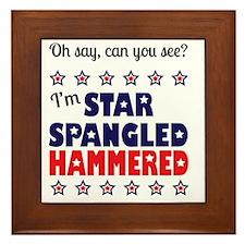 I'm Star Spangled Hammered Framed Tile