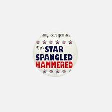 I'm Star Spangled Hammered Mini Button