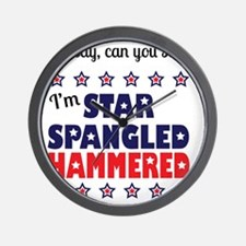I'm Star Spangled Hammered Wall Clock