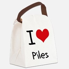 I Love Piles Canvas Lunch Bag