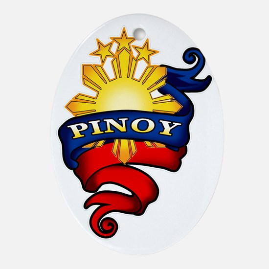 Pinoy Coat of Arms Oval Ornament