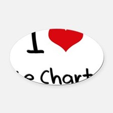 I Love Pie Charts Oval Car Magnet