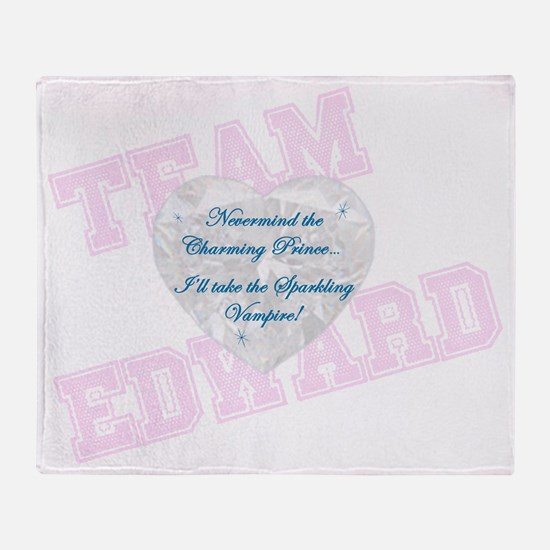 Sparkling Vampire Team Edward Prince Throw Blanket