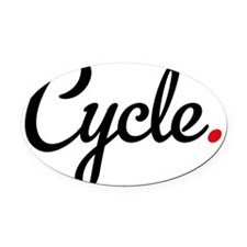 cycle Oval Car Magnet