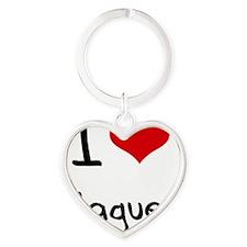 I Love Plagues Heart Keychain