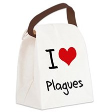 I Love Plagues Canvas Lunch Bag