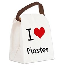 I Love Plaster Canvas Lunch Bag