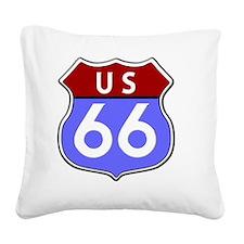 Route 66 Legendary Square Canvas Pillow