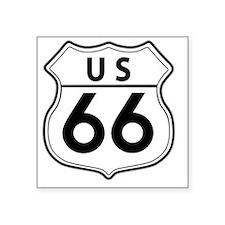 """Route 66 Classic Square Sticker 3"""" x 3"""""""