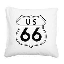 Route 66 Classic Square Canvas Pillow