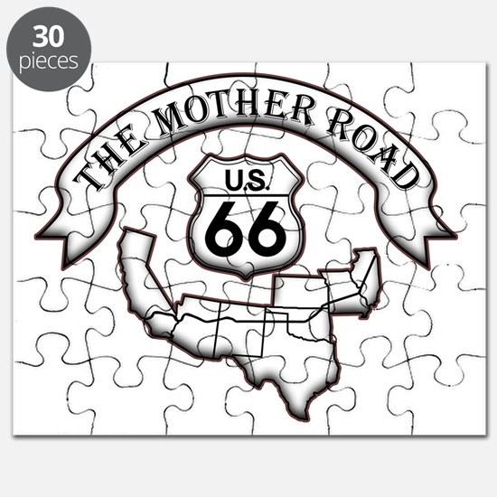 Route 66 Mother Road Design Puzzle