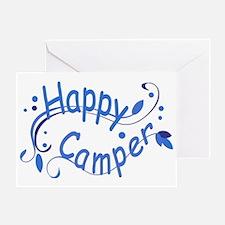 Happy Camper Blue Greeting Card
