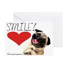 smile pug Greeting Card