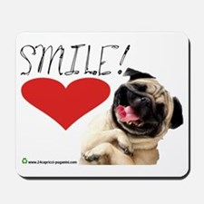 smile pug Mousepad