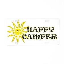 Happy Camper Sunshine Aluminum License Plate