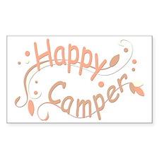 Happy Camper Pink Decal