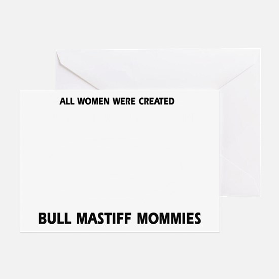 Bull Mastiff Mommies Greeting Card