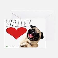 smile pug Greeting Card