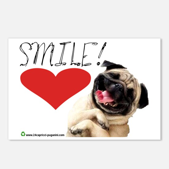smile pug Postcards (Package of 8)