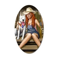 Southern Girl Card 35x21 Oval Wall Decal