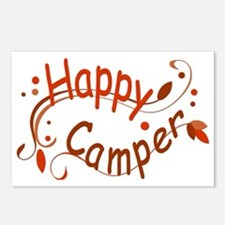Happy Camper Red Postcards (Package of 8)