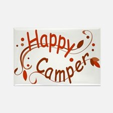 Happy Camper Red Rectangle Magnet